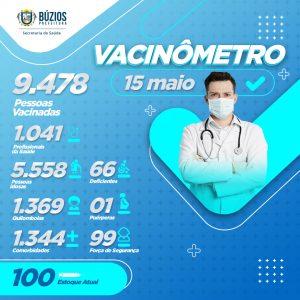 Vacinômetro Campanha Saude - 15-05