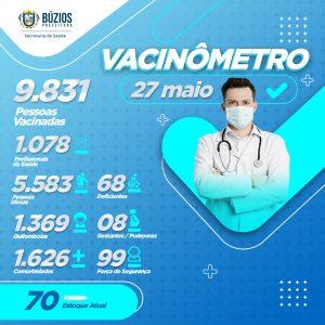 Vacinômetro Campanha Saude - 27-05